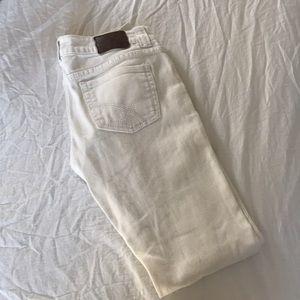 White woman jeans